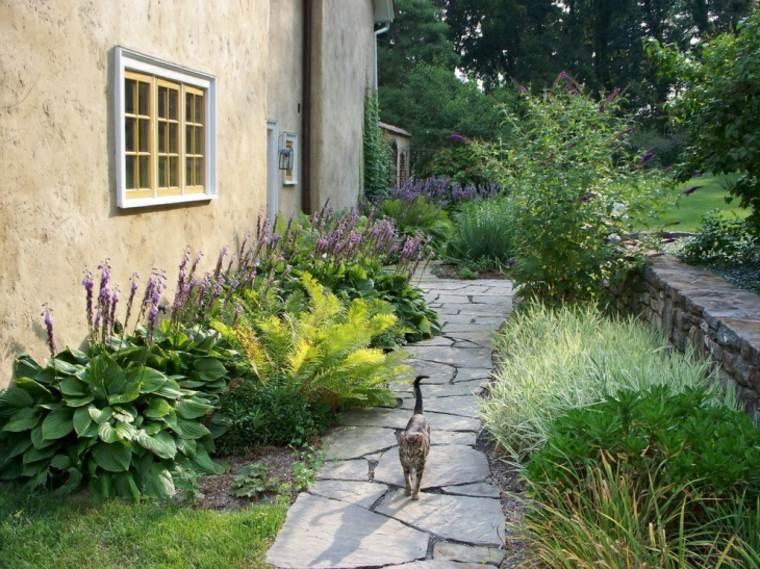 sendero jardin lado casa camino ideas