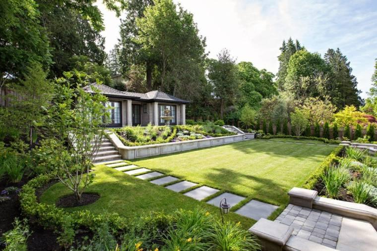 Sendero en el jard n 24 ideas para impresionar - Camino de piedras para jardin ...