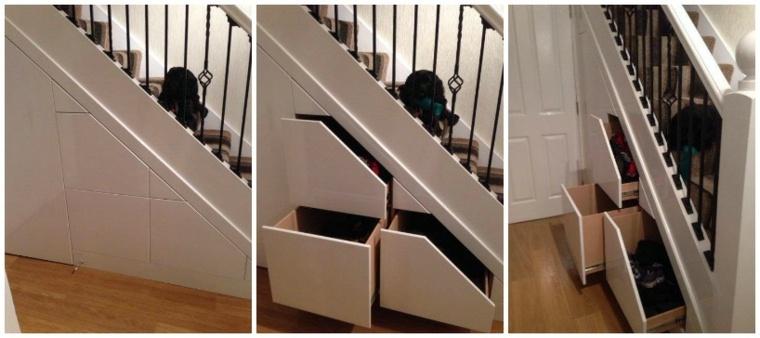 solnuciones almacenamiento bajo las escaleras