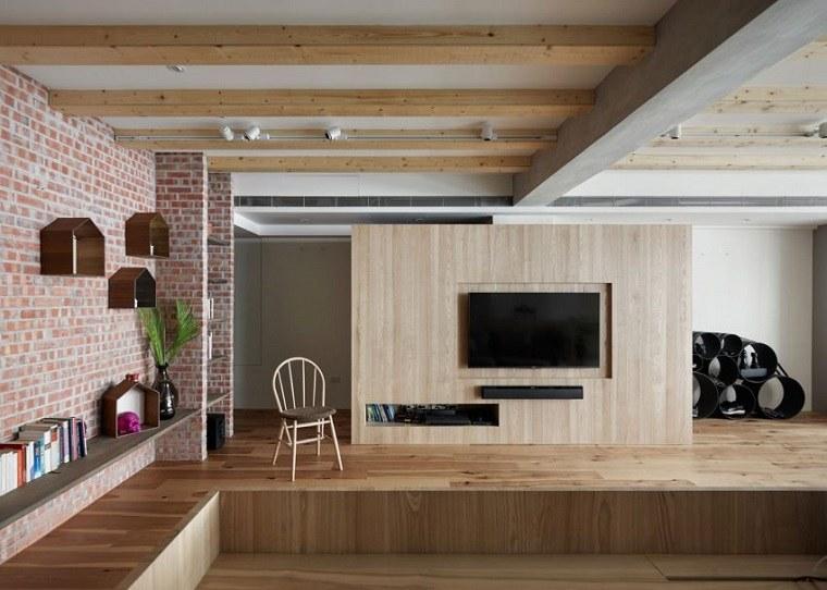 suelo techo madera diseno elegante ideas