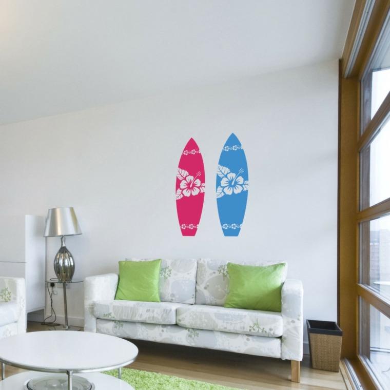 tablas de surf dibujadas decorar