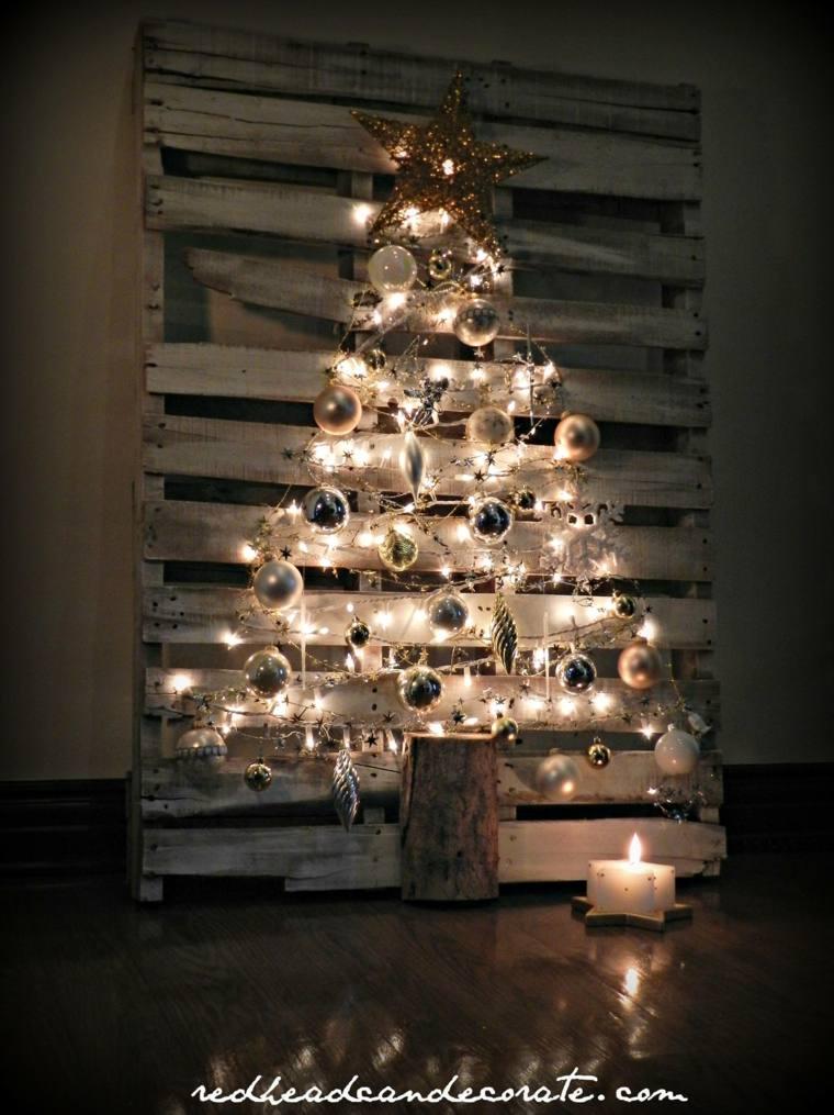 tablon palet abeto luces navidad