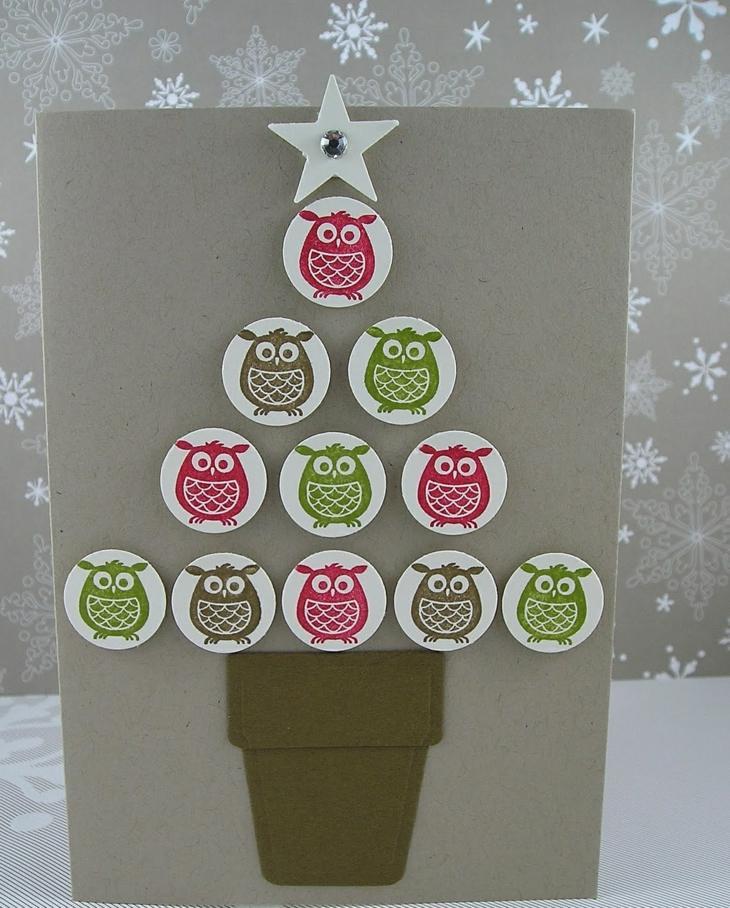 tarjetas de navidad originales diy arbol interesante ideas
