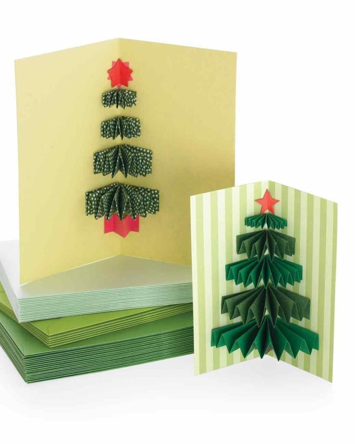 tarjetas de navidad originales diy casa arbol navidad ideas