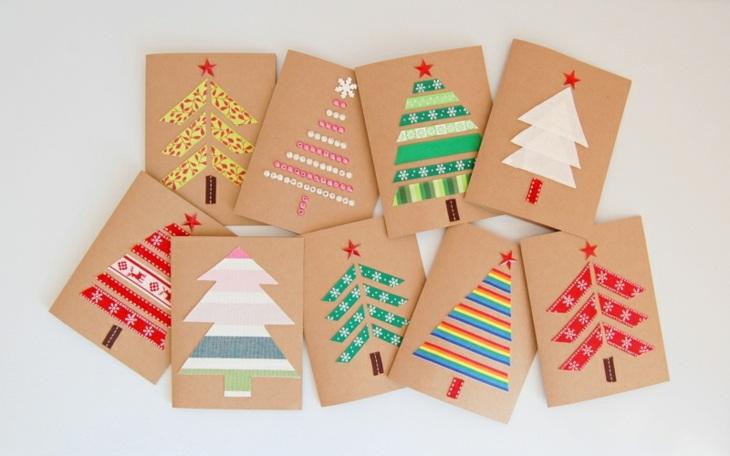 tarjetas de navidad originales diy casa arboles navidad ideas