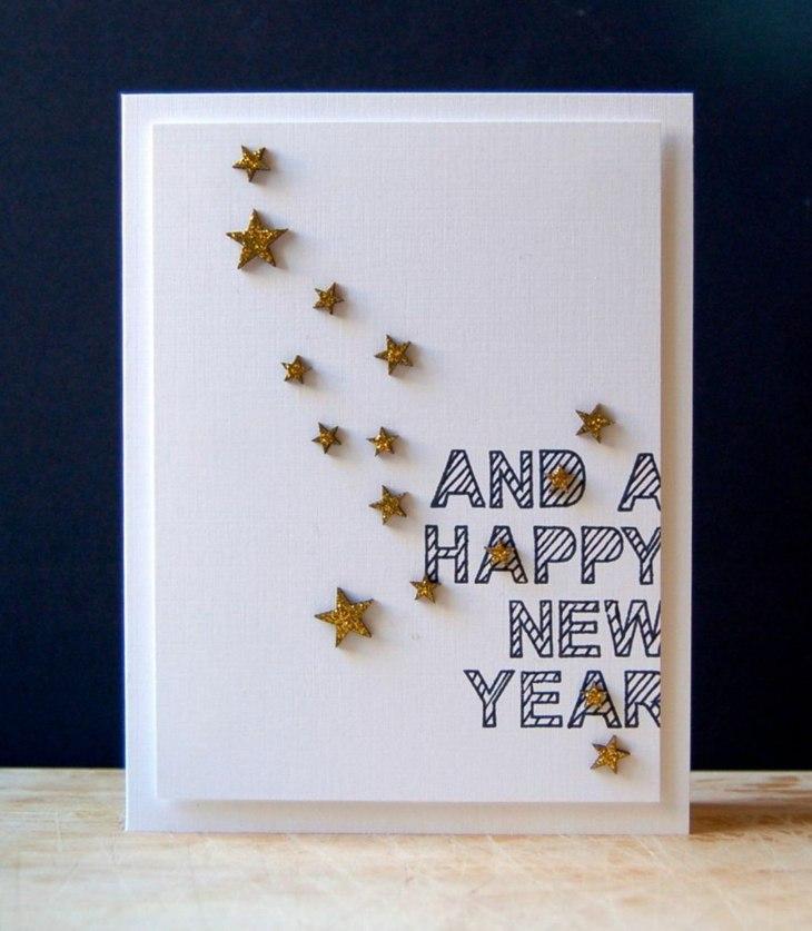 tarjetas de navidad originales diy casa blanco simple ideas