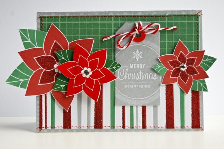 tarjetas de navidad originales diy casa flor navidad ideas