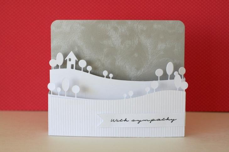 tarjetas de navidad originales diy casa paisaje nevado ideas