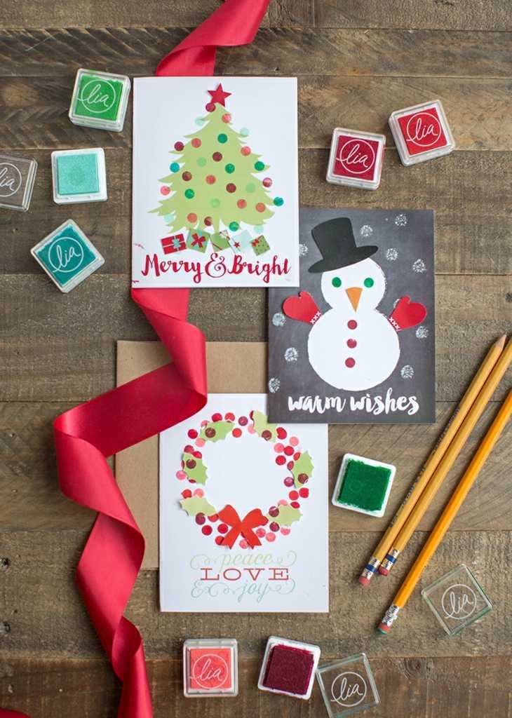 tarjetas de navidad originales diy casa varios disenos ideas