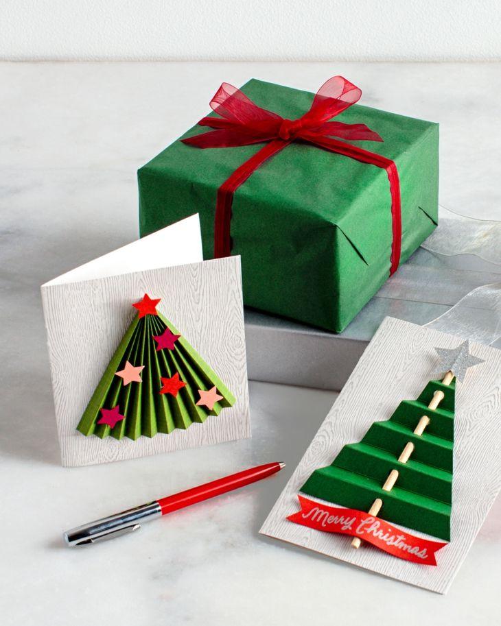 Tarjetas de navidad originales que puedes hacer en casa - Como hacer una felicitacion de navidad original ...
