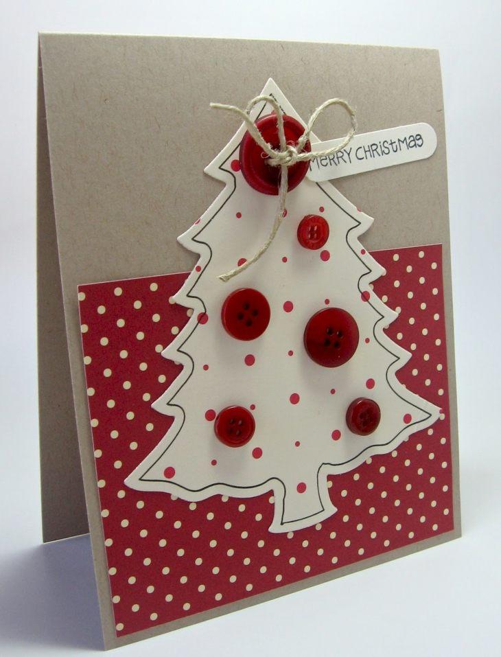 tarjetas navidad carton arbol navidad diy ideas