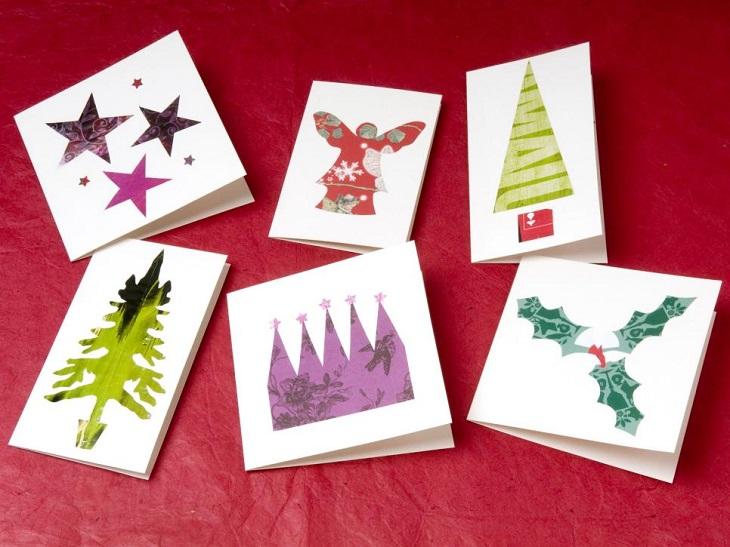 tarjetas navidad estampas navidenas preciosas ideas