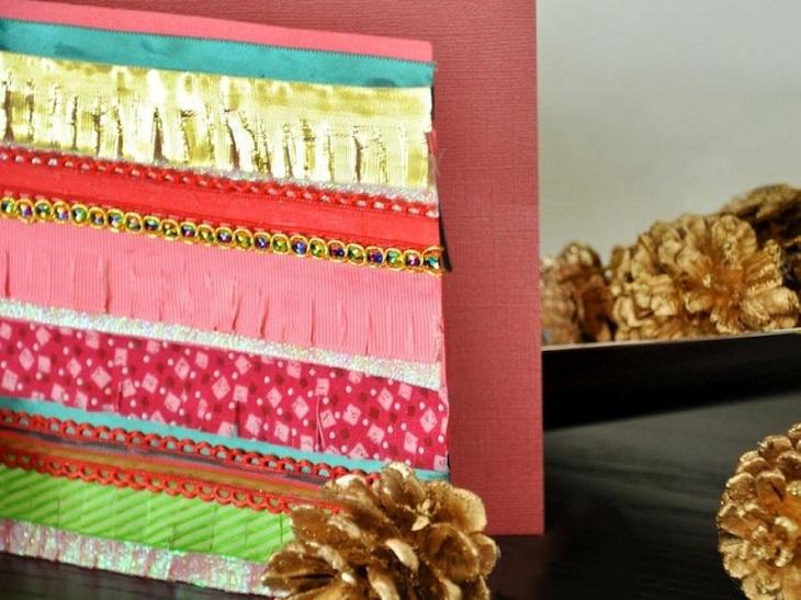 tarjetas navidad interesante colores vibrantes ideas