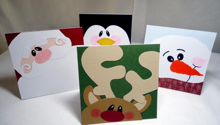 Tarjetas de navidad originales que puedes hacer en casa - Ideas para hacer postales de navidad con ninos ...