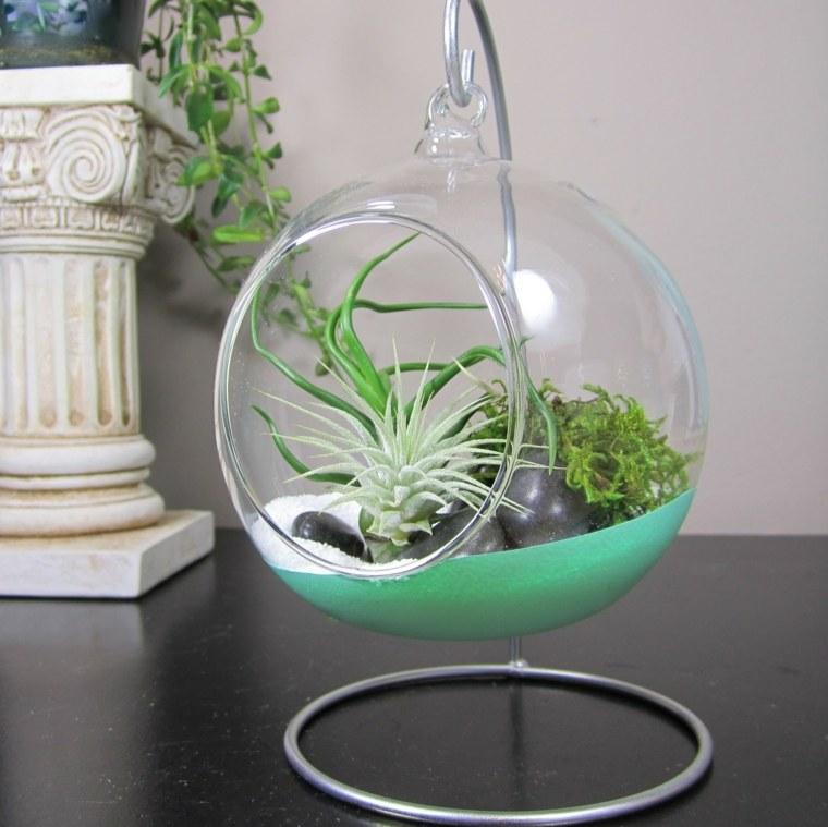 urna colgante pecera cristal