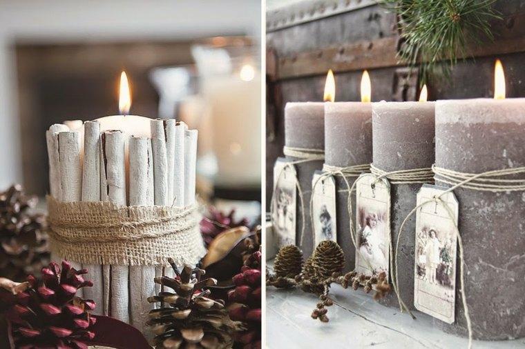 velas de navidad decoradas