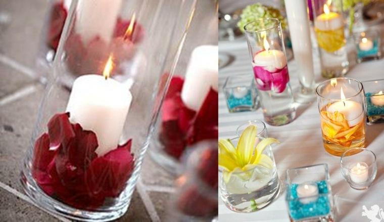 velas para decorar mesas interior