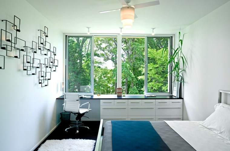 Ventanas modernas con asientos en el interior - House interior design for small space minimalist ...