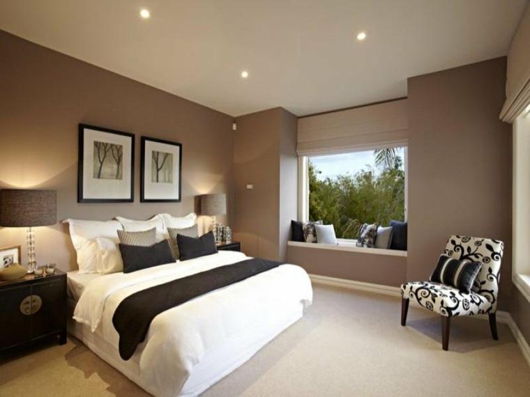 ventanas modernas asiento dormitorio