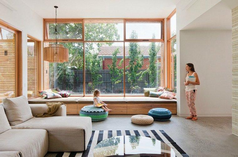 ventanas modernas asiento salón