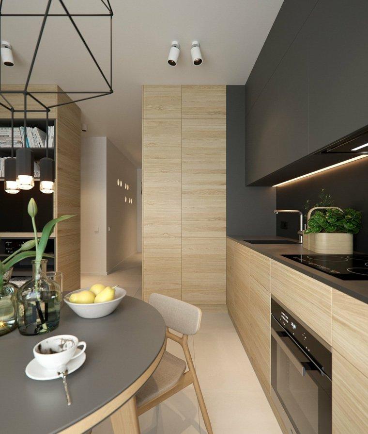 diseño cocina moderna laminada