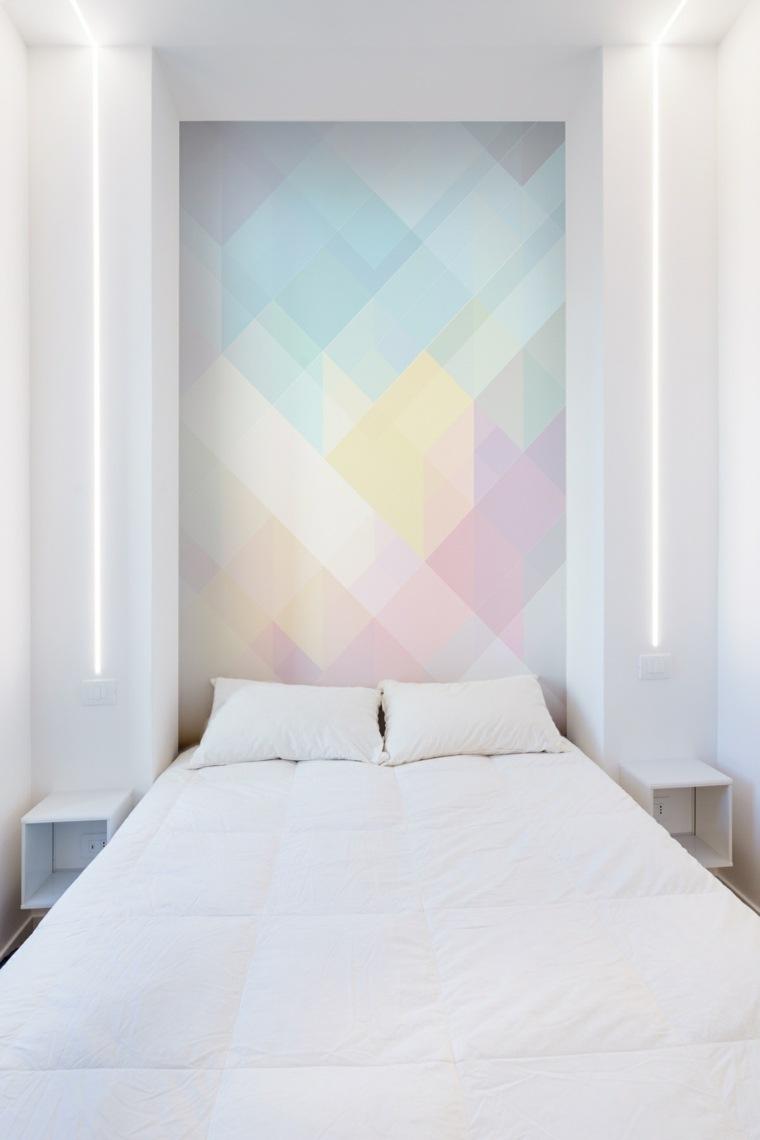 original dormitorio pared cabecero