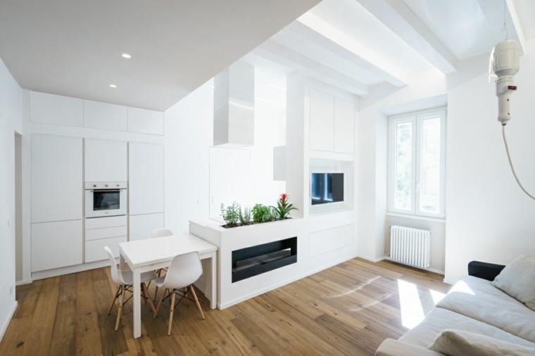 diseño interiores pequeños modernos