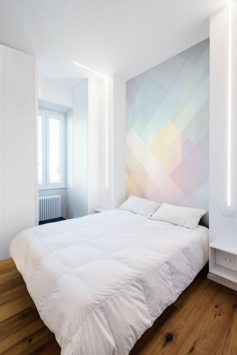 habitación pequeña cabecero colores