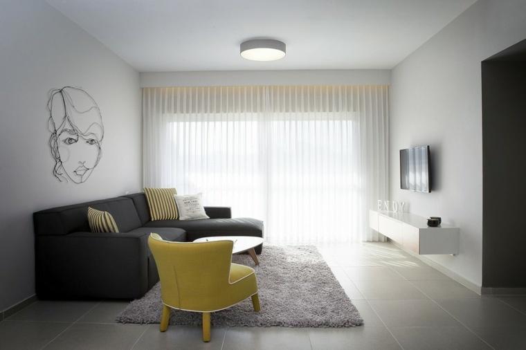 decoracion pisos pequeños minimalistas sillón