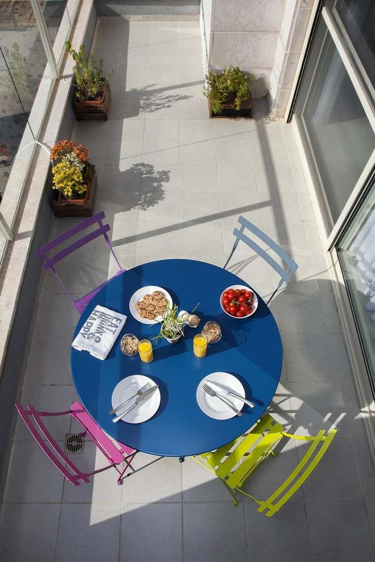 decoracion pisos pequenos terraza ciolores