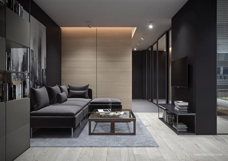 Interiores de apartamentos peque os con temas variados for Disenos de departamentos pequenos modernos