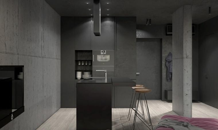 cocina con isla de KDVA Architects