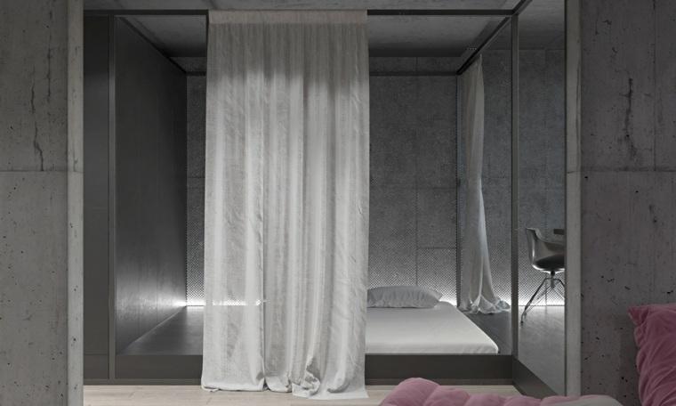 habitación con paredes de vidrio