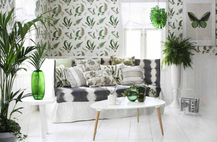 verdes plantas ideas muebles madera