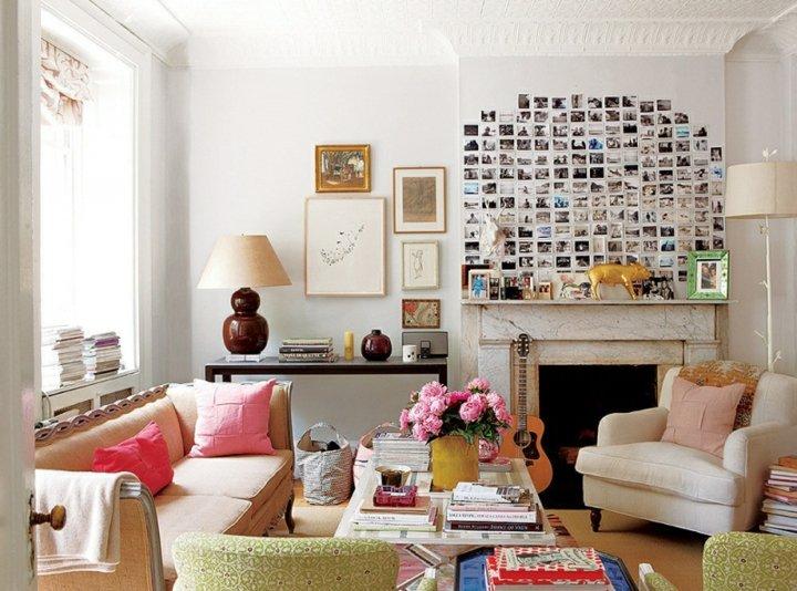 acogedor salon romantico diferente paredes