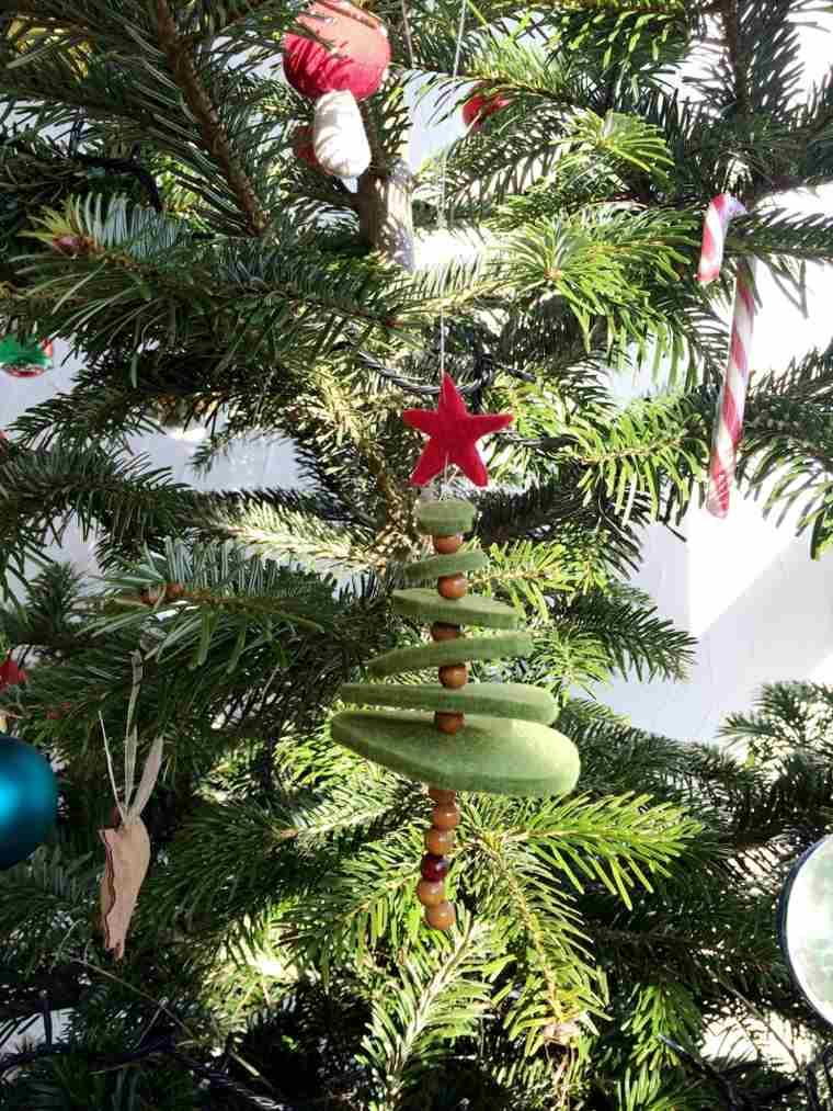 Como decorar un arbol de navidad con adornos caseros for Adornos navidenos sencillos
