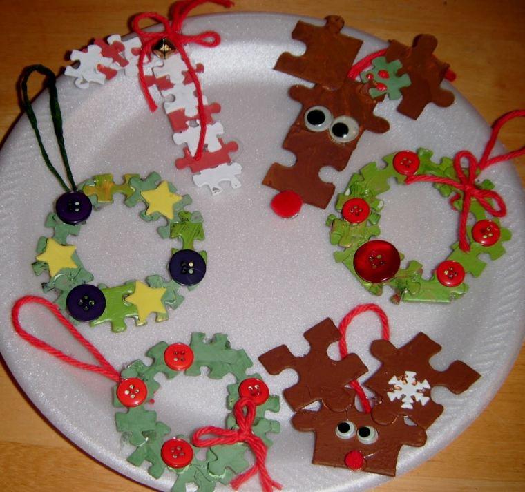 adornos Navidad originales piezas puzle