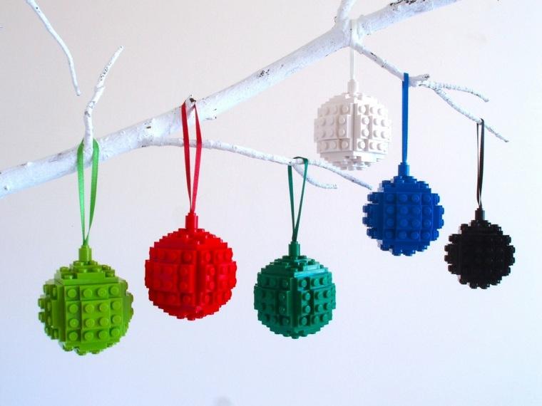 adornos colgantes bolas Lego