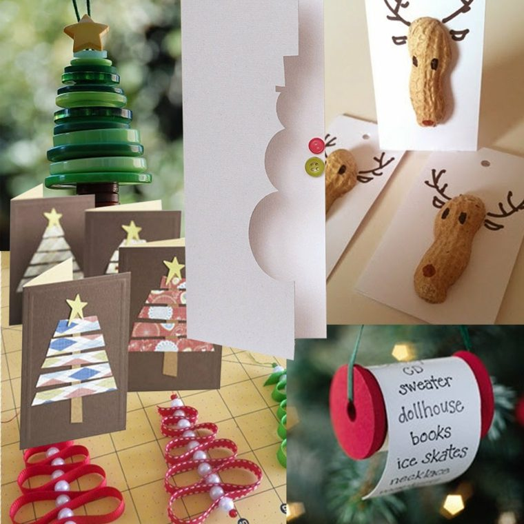 adornos sencillos manualidades navidad
