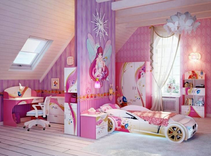 agradable rosa cama auto casas