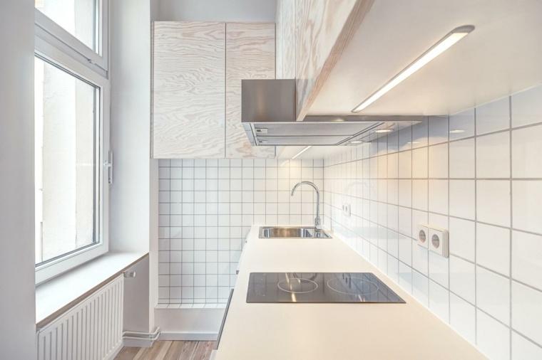 apartamento pequeño berlin cocina azulejos