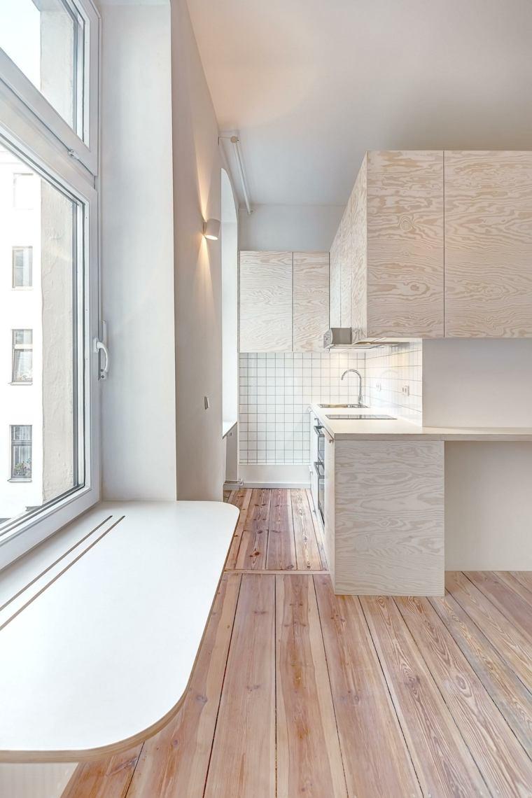 apartamento berlin cocina madera blanco