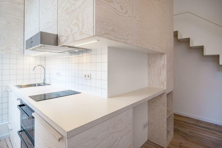 apartamento pequeño berlin cocina moderna