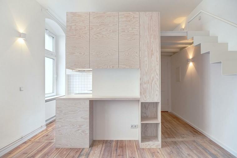 apartamento pequeño diseño moderno