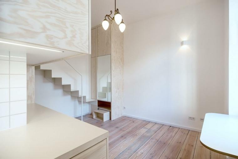 apartamento moderno escaleras blancas