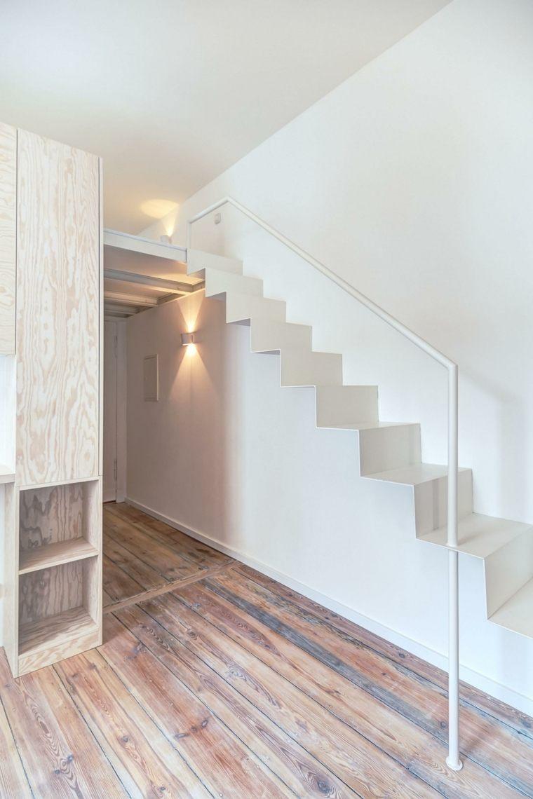 apartamento berlin escaleras modernas blancas