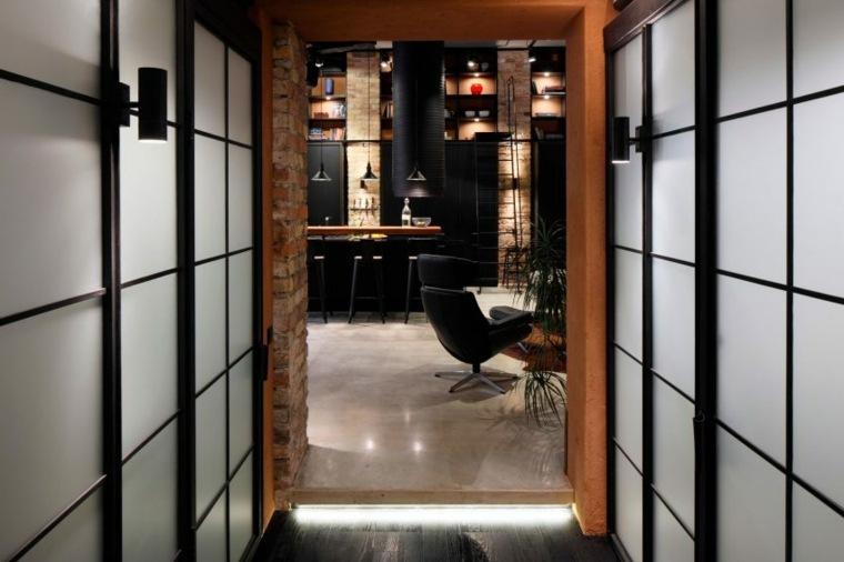 apartamento diseño industrial moderno