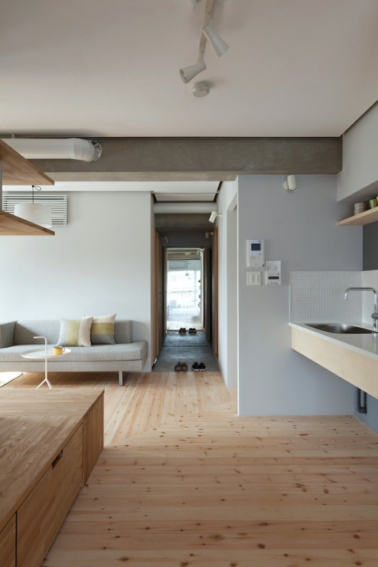 apartamento modenro suelo parquet madera