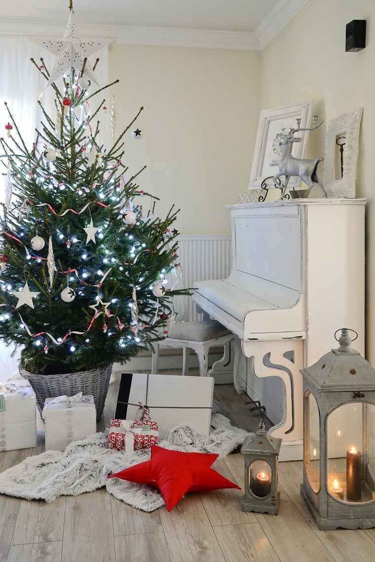 arbol grande cesto grande decoracion navidad opciones