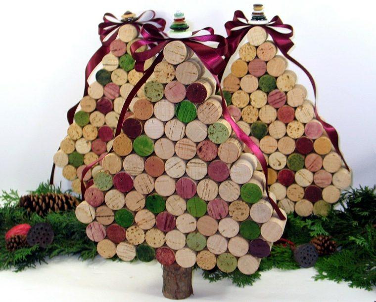 con corchos ideas de rboles de navidad muy bonitos